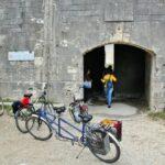 Entrada a Fort Liedot en la isla de Aix al oeste de Francia