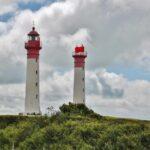 Faros en la isla de Aix al oeste de Francia