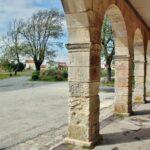 Rincón de la isla de Aix al oeste de Francia