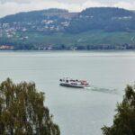 Lago de Murten en la región de Friburgo en Suiza