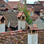 Vistas desde la muralla de Murten en Suiza