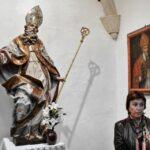 Imagen de San Atilano en la iglesia de la Magdalena en Tarazona