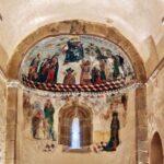 Pinturas del abside de la iglesia de San Vicente Serrapio en Asturias