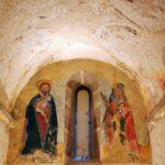 Pinturas de un ábside de la iglesia de San Vicente Serrapio en Asturias