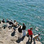 Pescadores en el paraje de la Boca del Infierno en Cascais
