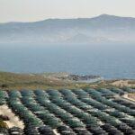 Parque eólico del Cabo Vilán en la Costa da Morte de Galicia