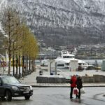 Rincón de Tromso al norte de Noruega