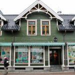 Casas de Tromso al norte de Noruega