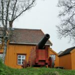 Barrio histórico de Tromso en Noruega