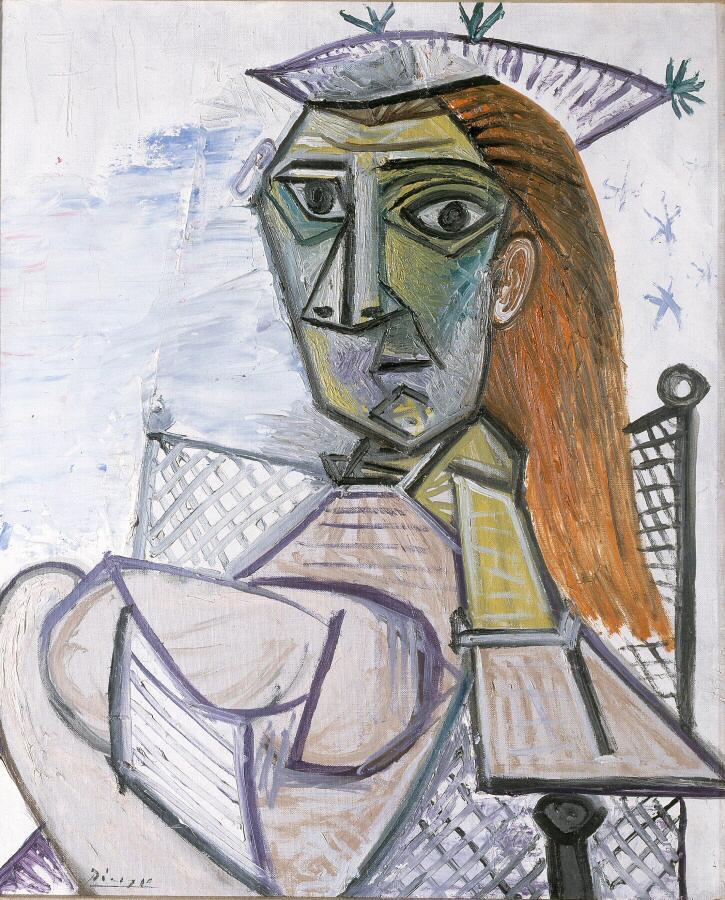 Picasso en la exposición el Arte en Guerra en el museo Guggenheim de Bilbao