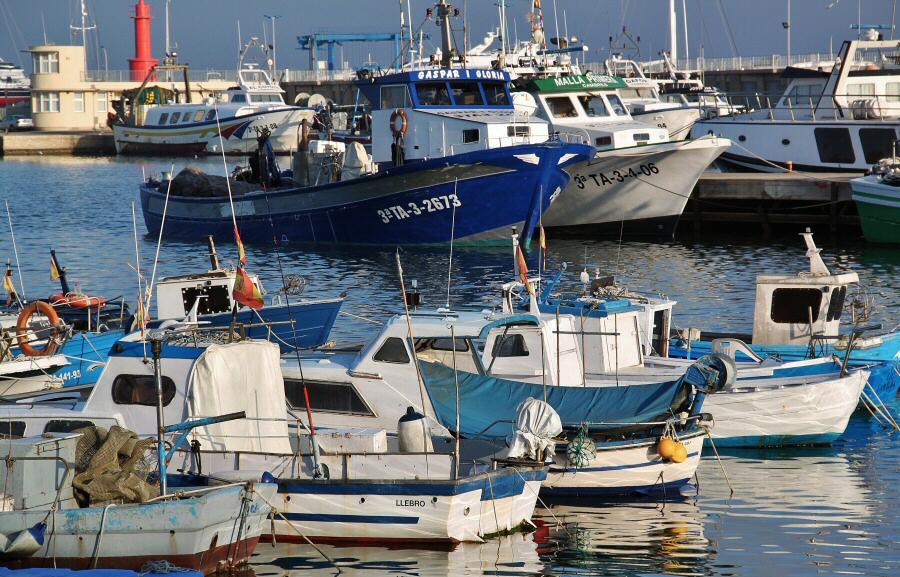 Puerto de Cambrils al sur de Tarragona