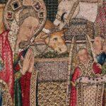 Bordado del siglo XV en el museo del monasterio de Guadalupe