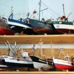 Tienda de souvenirs en el Faro de las Ballenas en la isla de Ré