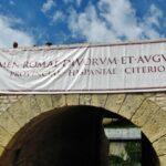 Lucha de gladiadores en el anfiteatro romano de Tarragona en Tarraco Viva
