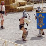 Lucha de gladiadores en Tarraco Viva en Tarragona