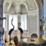 Salón de estilo indiano en palacio da Pena en Sintra