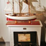 Rincón interior del barco polar Fram en el museo Fram de Oslo