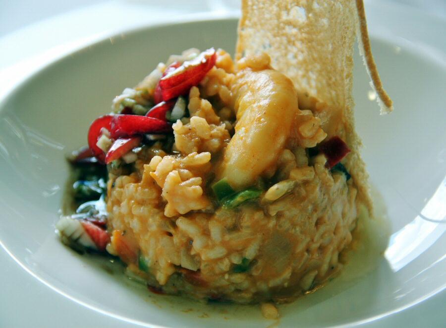 Arroz con frutos de mar y en Balneario del Jerte