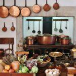 Cocina del Palacio da Pena en Sintra cerca de Lisboa