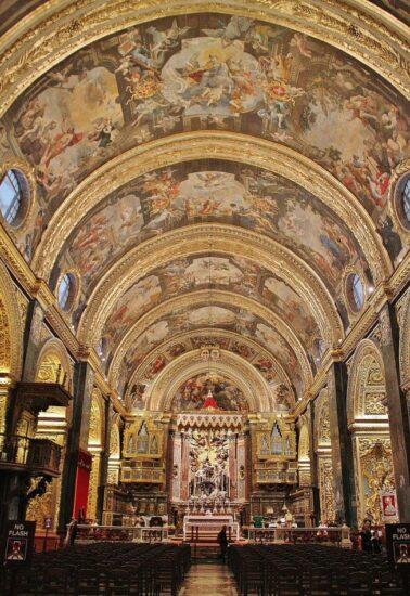 Con-catedral de San Juan en La Valeta en Malta
