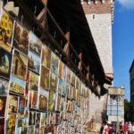 Rincón del centro histórico de Cracovia en Polonia