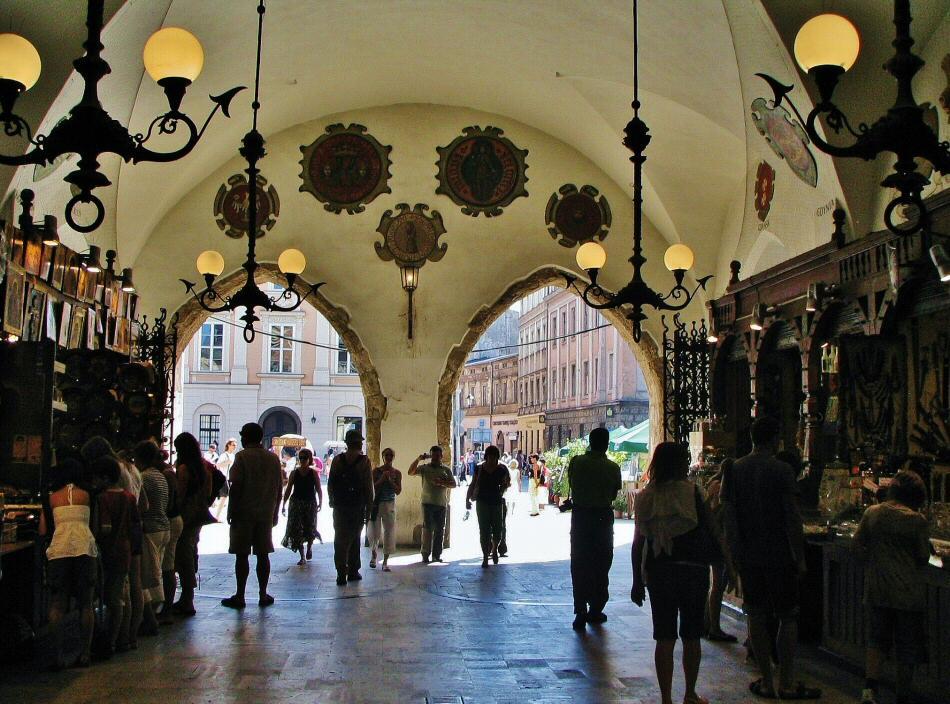 Lonja de Paños en plaza del Mercado de Cracovia