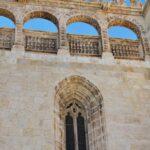 Fachada de la iglesia de Santa María la Real en Aranda de Duero