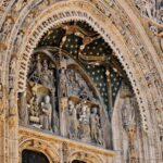 Tímpano de la iglesia de Santa María la Real en Aranda de Duero