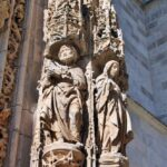 Detalle de la portada de la iglesia de Santa María Aranda de Duero
