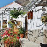 Arquitectura tradicional canaria en Fataga en Gran Canaria