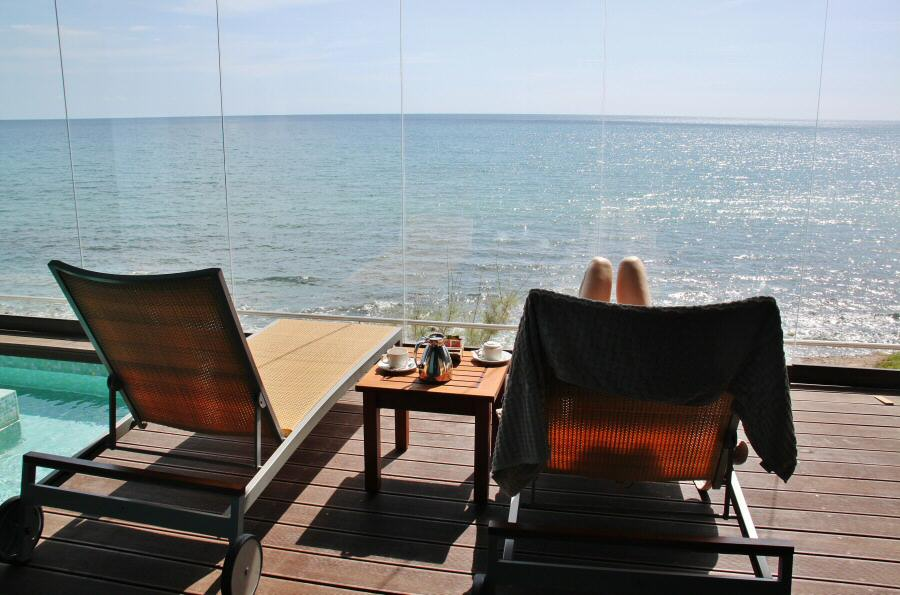 Suite jacuzzi privado del centro Corallium Thalasso Villa del Conde en Gran Canaria