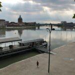 Río Garona en Toulouse en Midi-Pyrénées