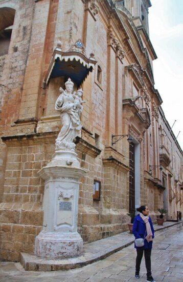 Imagen religiosa en Mdina en Malta