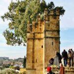 Torre de la muralla del Alcázar de los Reyes Cristianos en Córdoba
