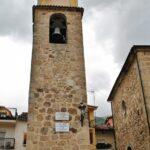 Torre de la iglesia de Nuestra Señora de la Asunción en Jerte en el Valle del Jerte