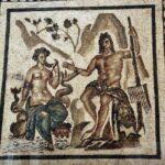 Mosaicos romanos en el Alcázar de los Reyes Cristianos en Córdoba