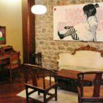 Salón en el Balneario La Hermida en el Valle de Liébana en Cantabria