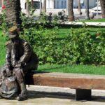 Escultura en un parque de Cartagena en Murcia
