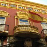 Fachada del Casino de Cartagena en Murcia