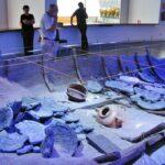 Barco fenicio en el ARQUA Museo de Arqueología Subacuática en Cartagena