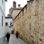 Muro de la Hospedería del Monasterio de Guadalupe