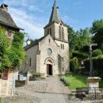 Iglesia de Belcastel en Aveyron al sur de Francia