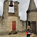 Campanario de la torre del Castillo de Najac al sur de Francia