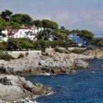 Camino de ronda de S´Agaro en el Ampurdan en Costa Brava