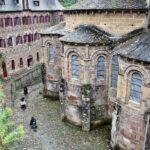 Abside de la Abadía de Conques en Aveyron al sur de Francia
