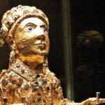 Relicario de la Santa Fé del Tesoro de la Abadía de Conques al sur de Francia