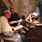 Ensayo en el órgano de la Abadía de Conques al sur de Francia