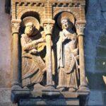 Escultura en la Abadía de Conques al sur de Francia