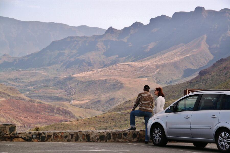 Mirador de las Yeguas en el interior de Gran Canaria
