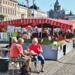 Chiringuito en la plaza del Mercado de Helsinki